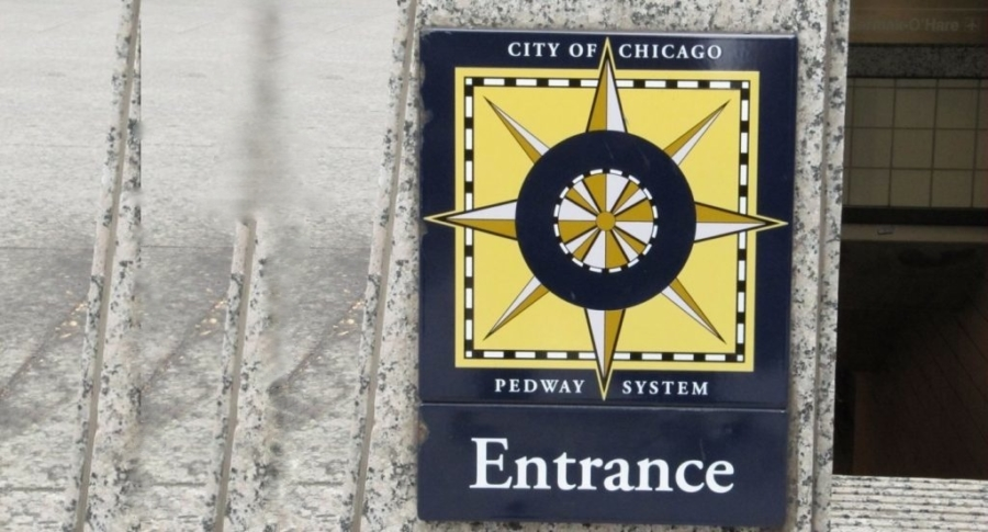 Entrance to the Chicago pedway system