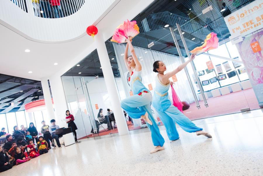 Yin He dancers performing