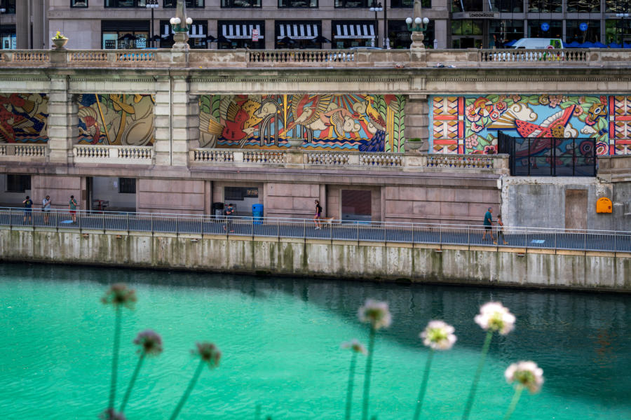 The Radiance of Being by Kate Lynn Lewis on the Chicago Riverwalk