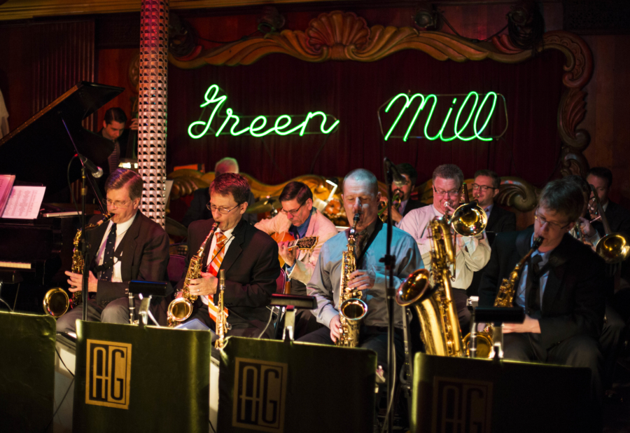 Band playing at Green Mill club in Uptown Chicago