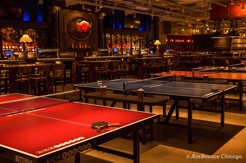 Ping pong tables at AceBounce in Chicago