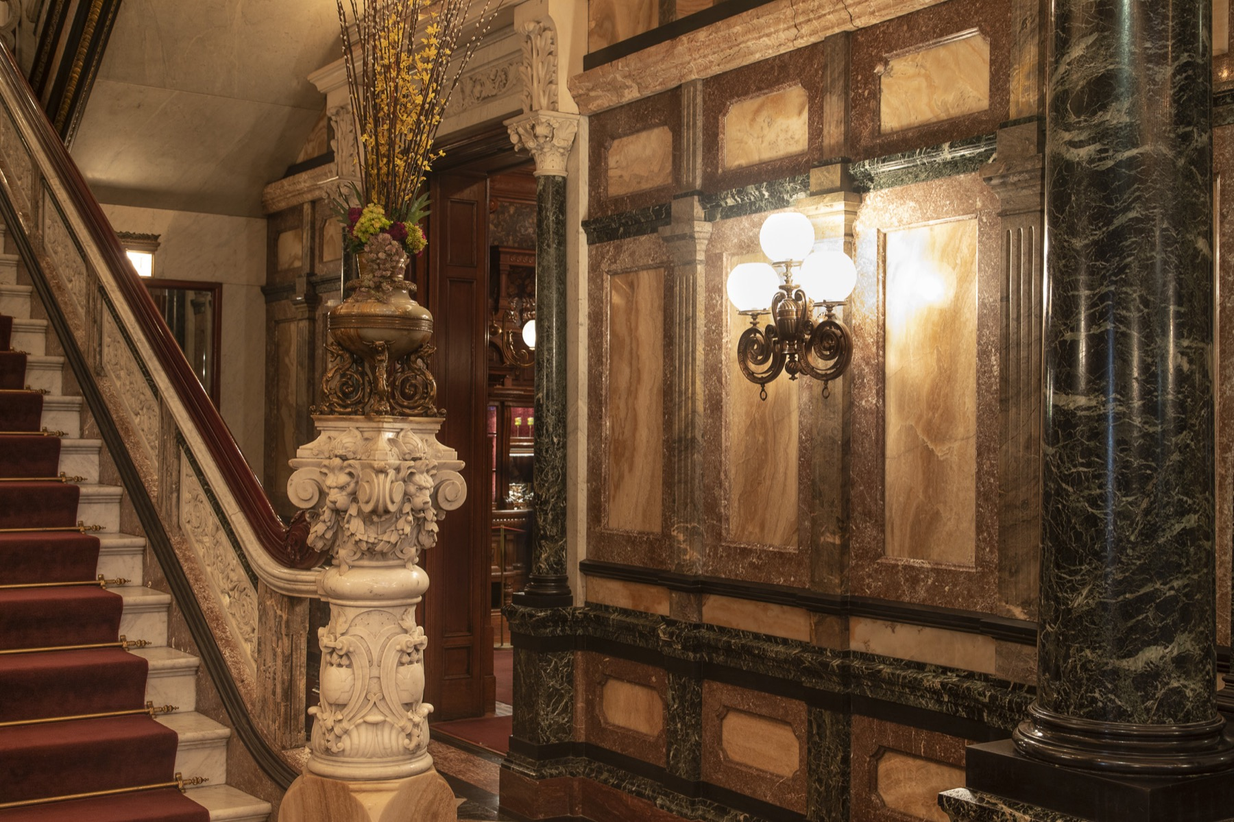 Staircase inside Driehaus Museum