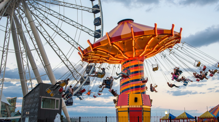 Go for a ride on the Pepsi Wave Swinger at Navy Pier