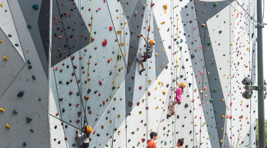 Watch your kids climb all the way to the top at Maggie Daley Park