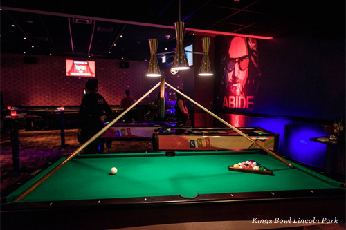 Pool Table at Kings Bowl Chicago