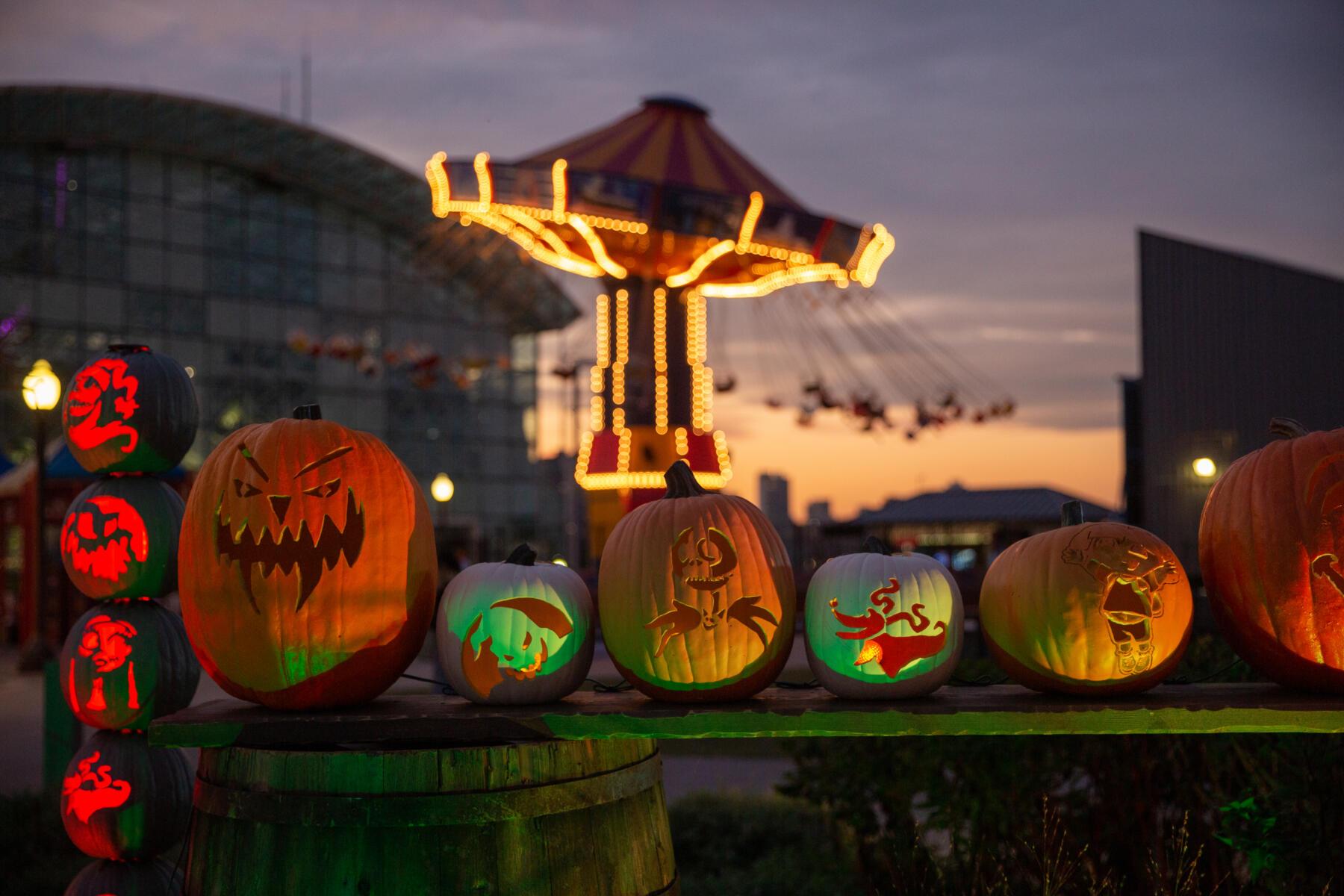 Navy Pier's Pumpkin Lights;