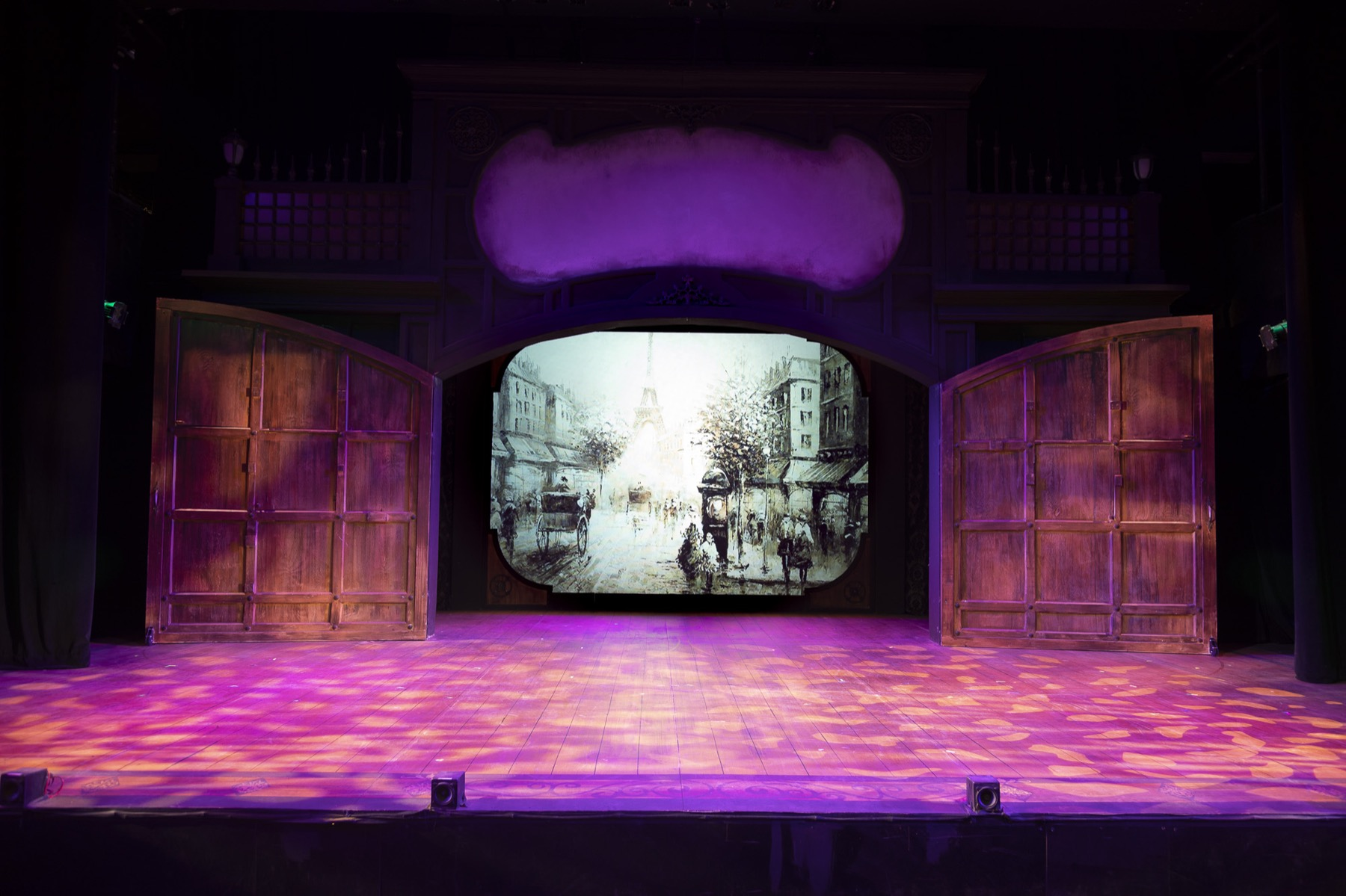 Stage at Porchlight Music Theatre