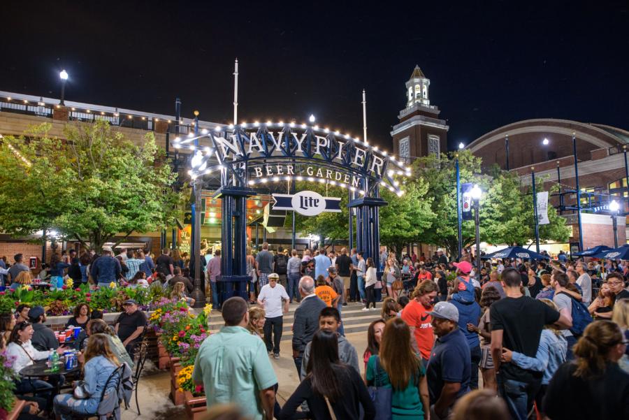 Miller Lite Beer Garden at Navy Pier
