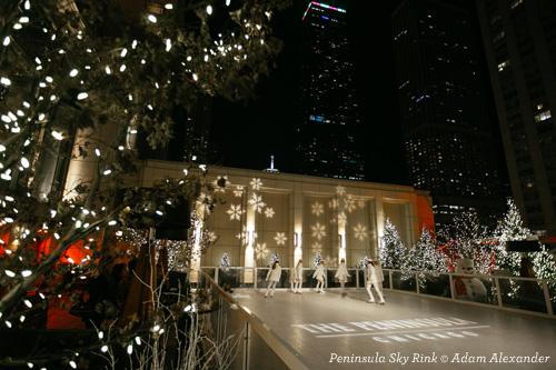 Sky Rink at Peninsula Hotel Chicago