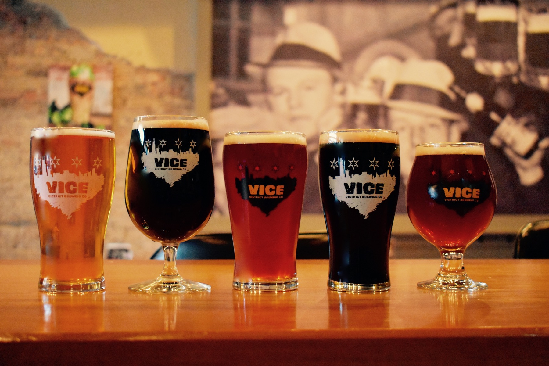 Vice District Brewery Beers