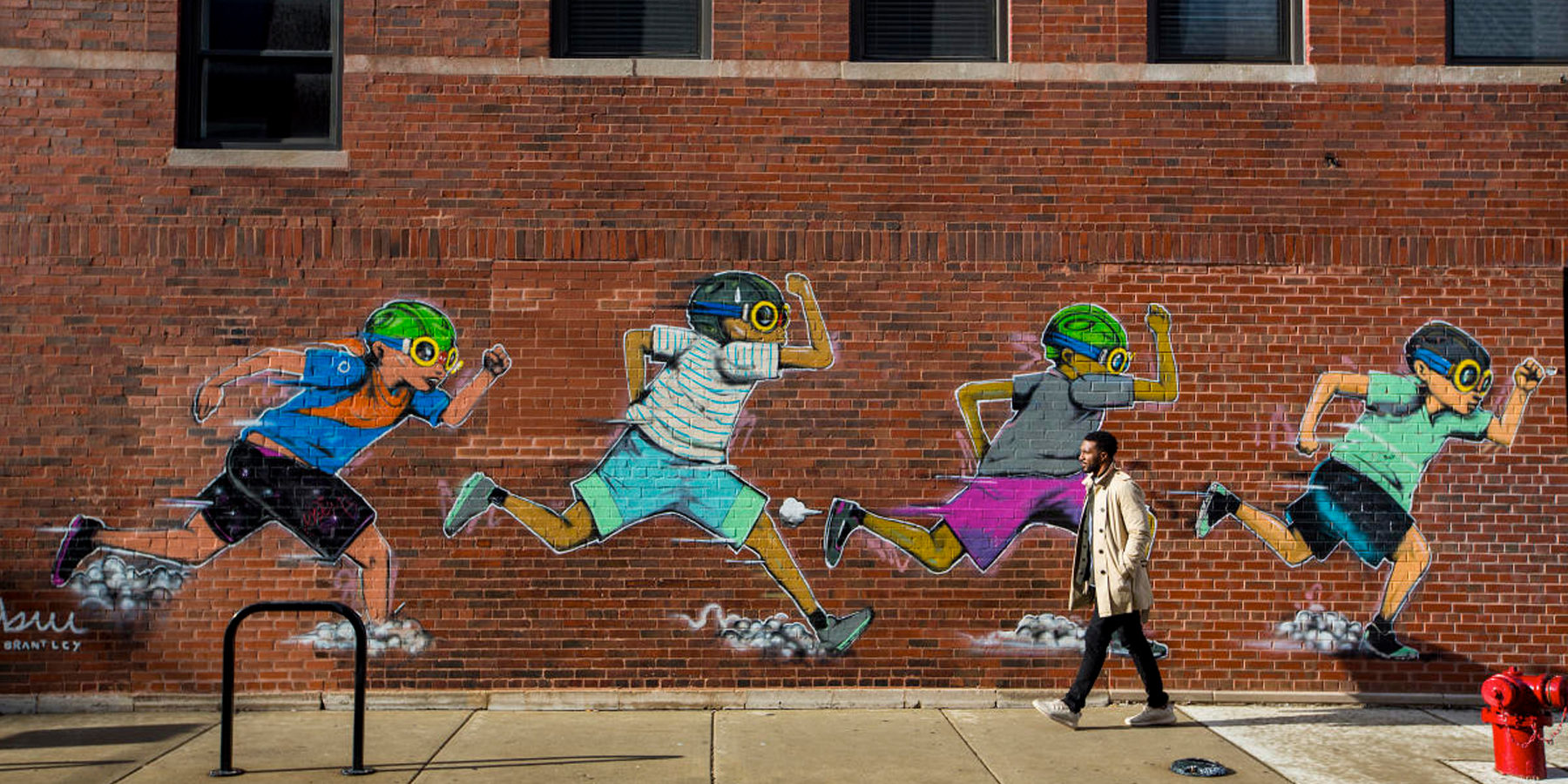 Chicago Running Street Art