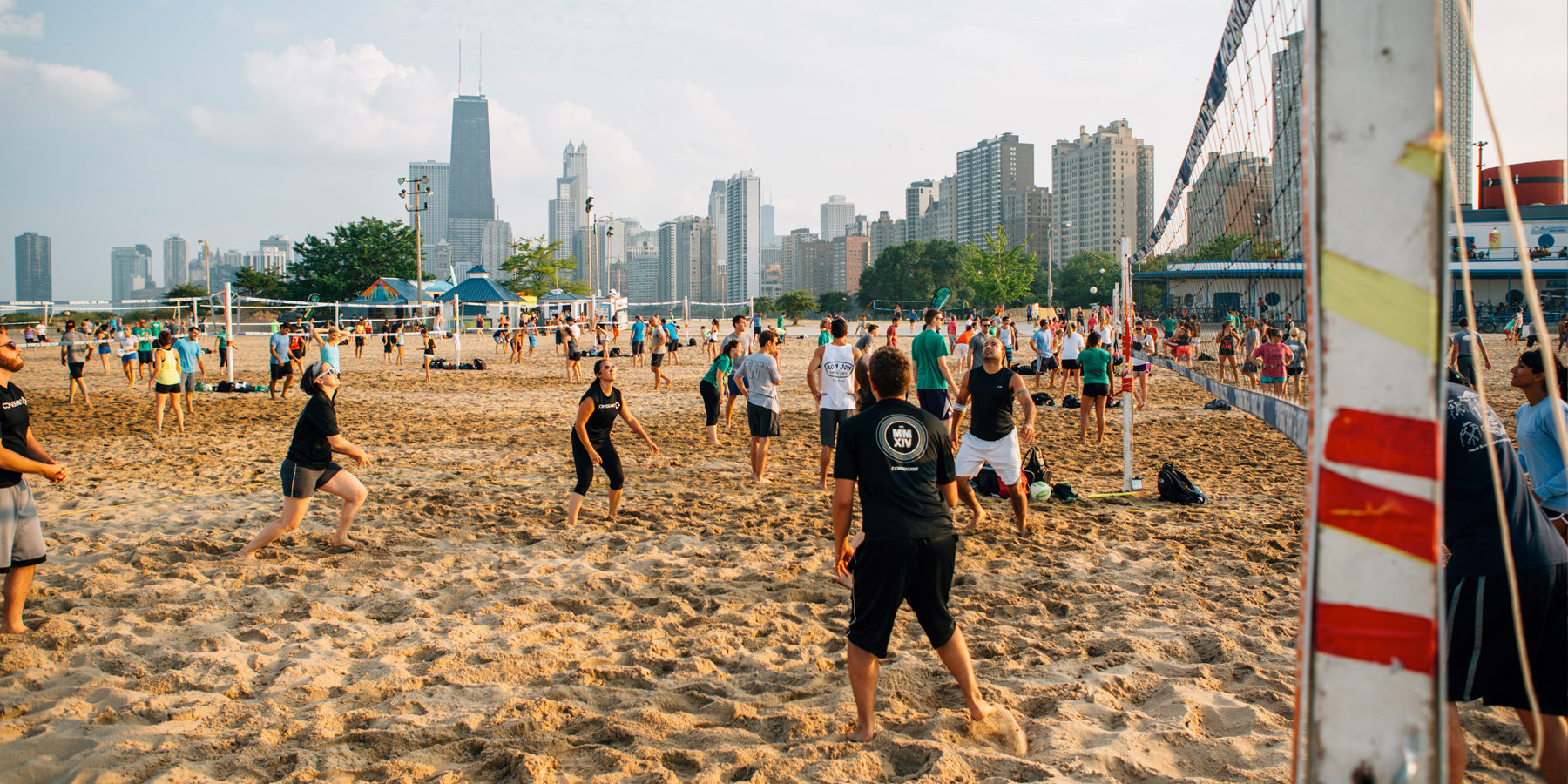 chicago beach guide volleyball