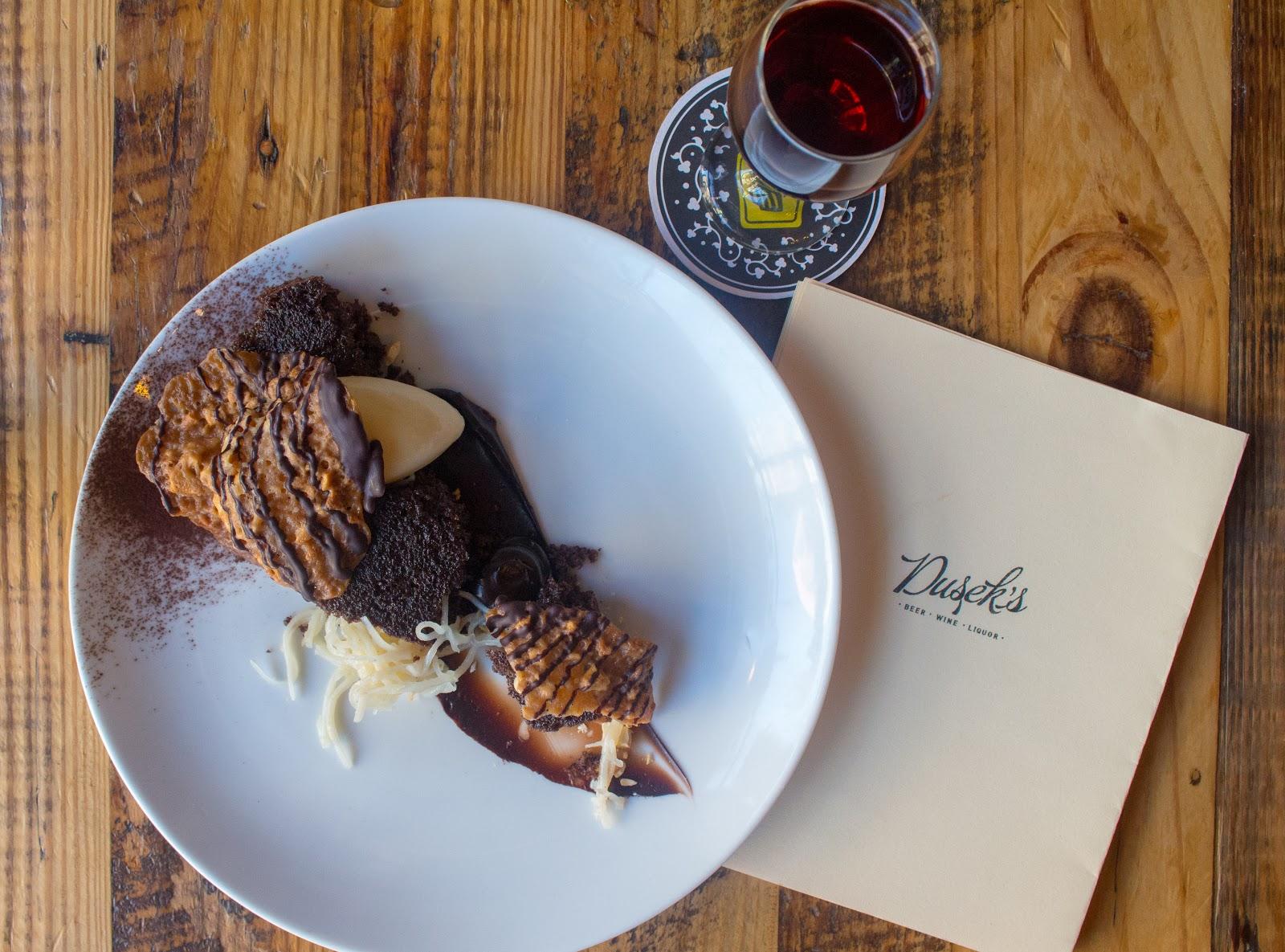 A dessert at Dusek's Chicago Restaurant Week 2019
