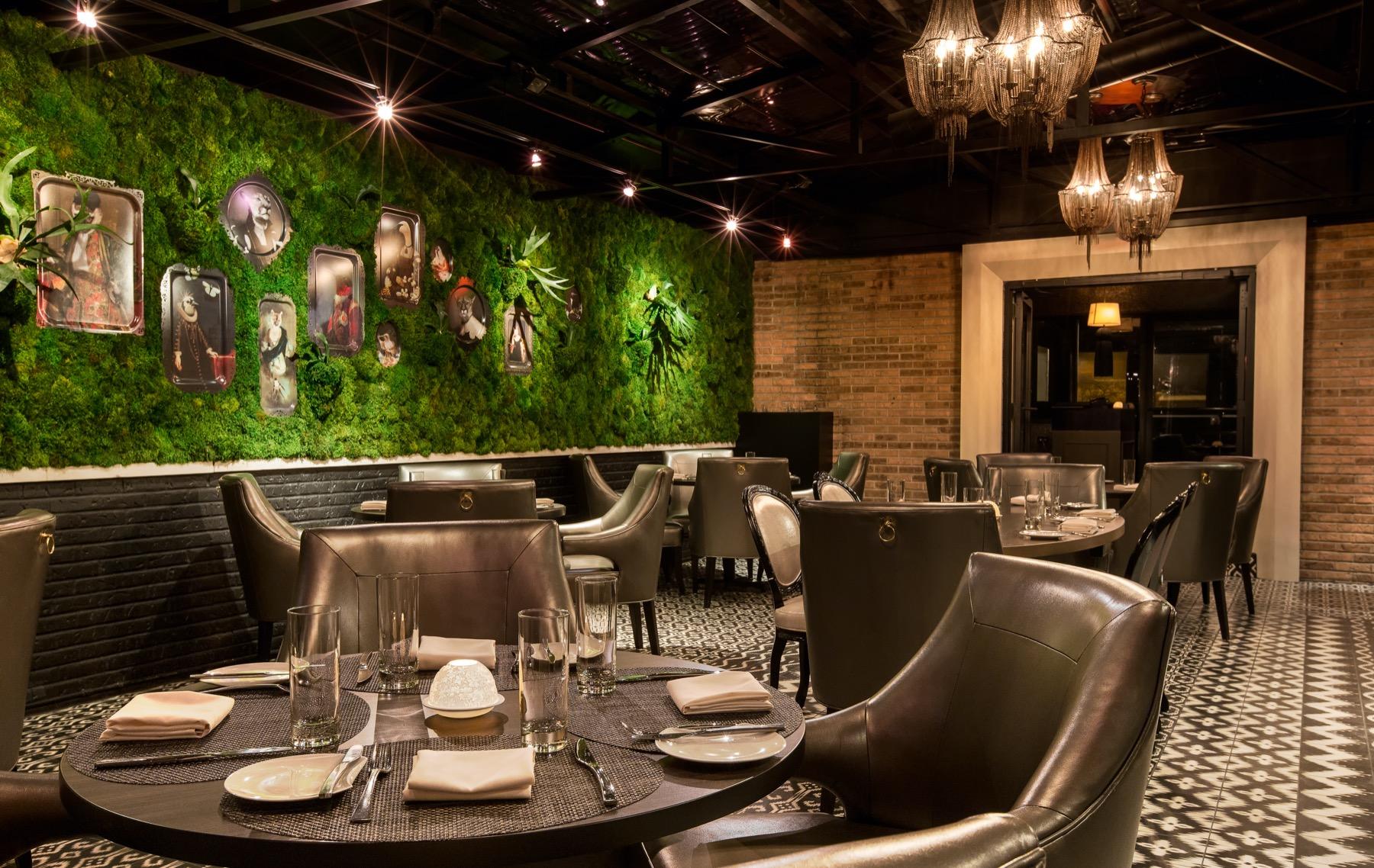 Inside BOKA restaurant