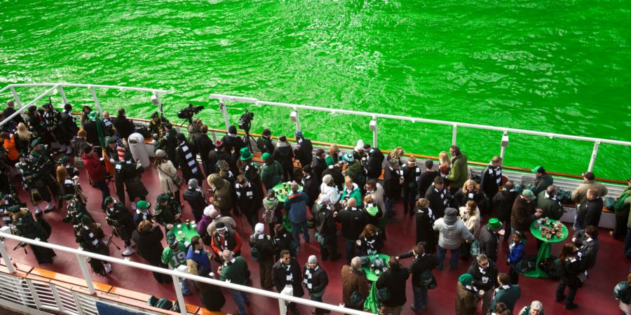 St Patricks Day green river