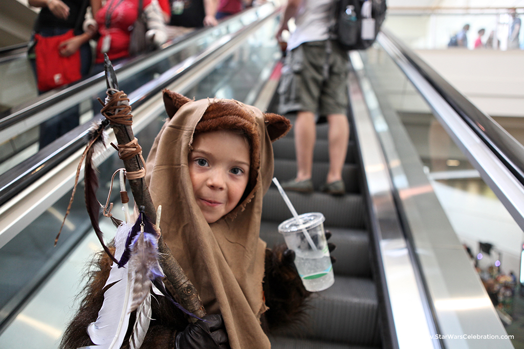 A young fan at Star Wars Celebration