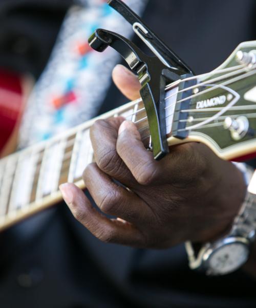 Blues Fest Close up of a Musician