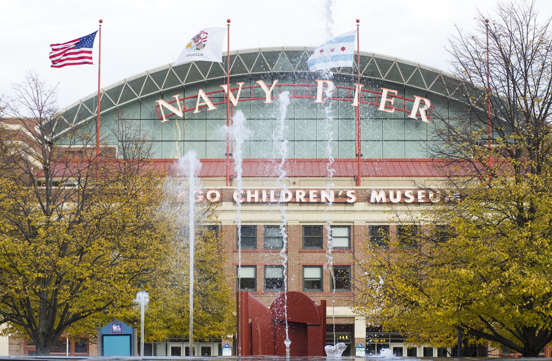 Navy Pier Entrance in the Fall