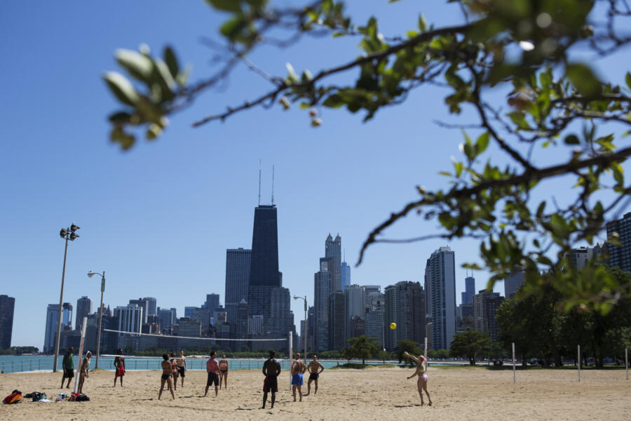 Volleyball at North Avenue Beach