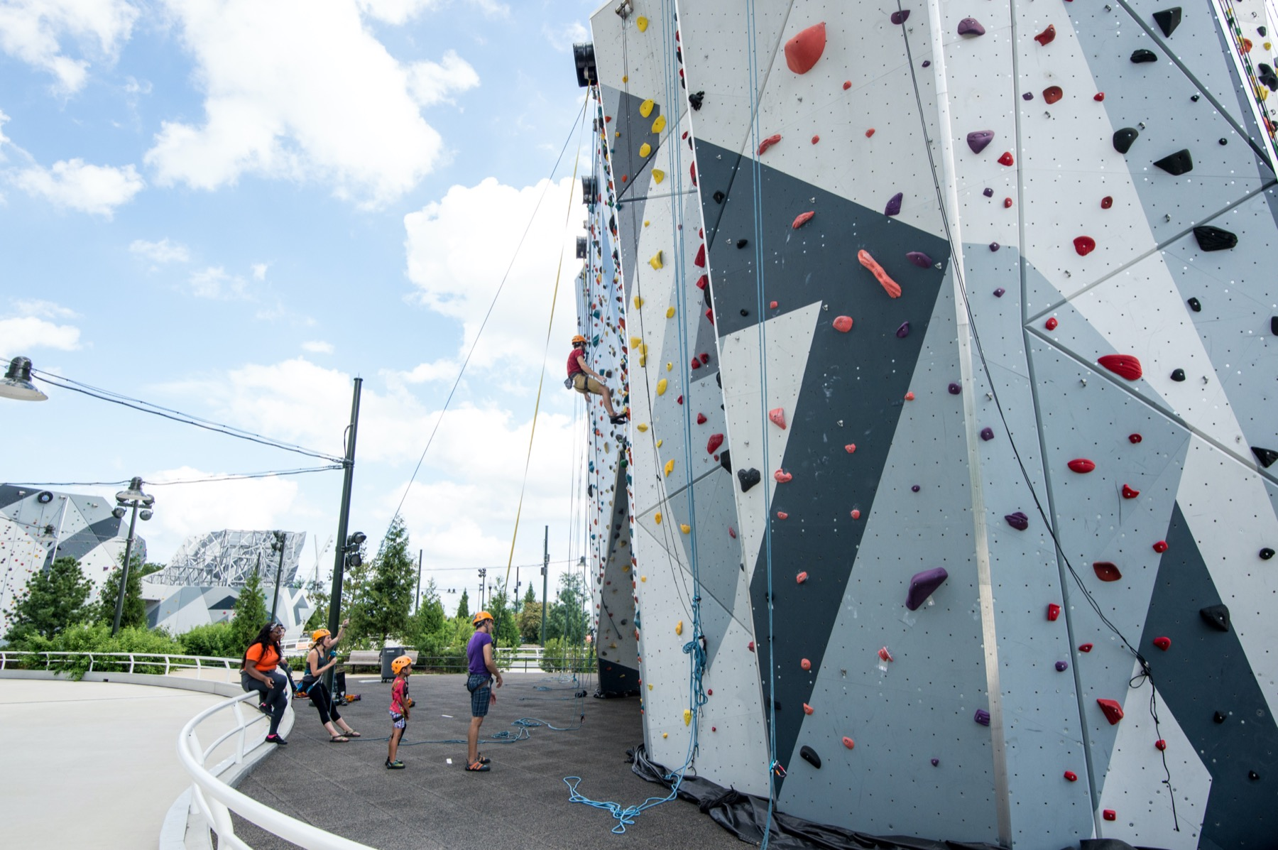 Rock wall at Maggie Daley Park