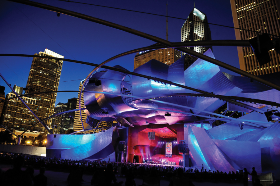 Pritzker Pavillion Night