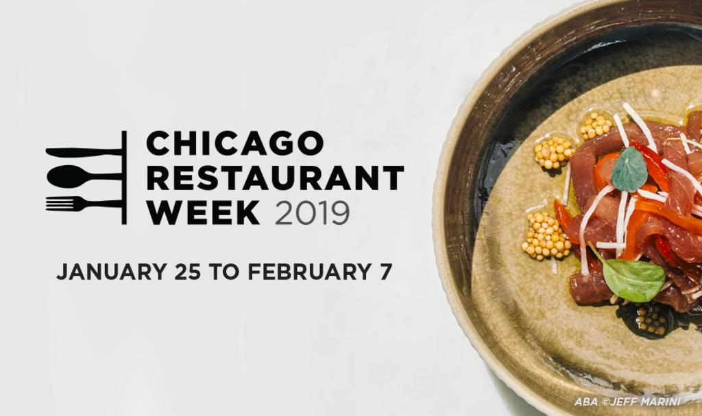 Chicago restaurant week poster