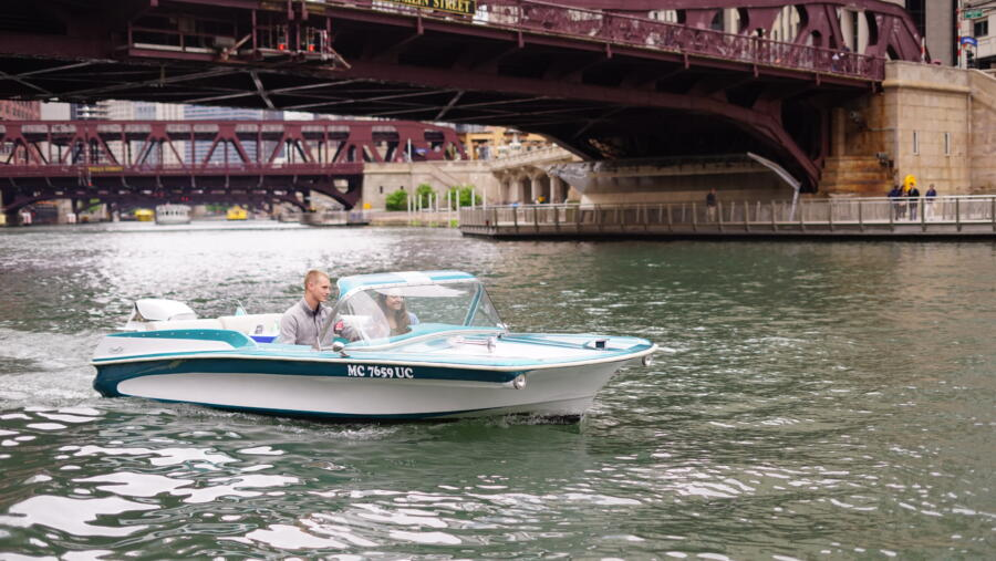 A retro boat from Chicago Electric Boat Compant