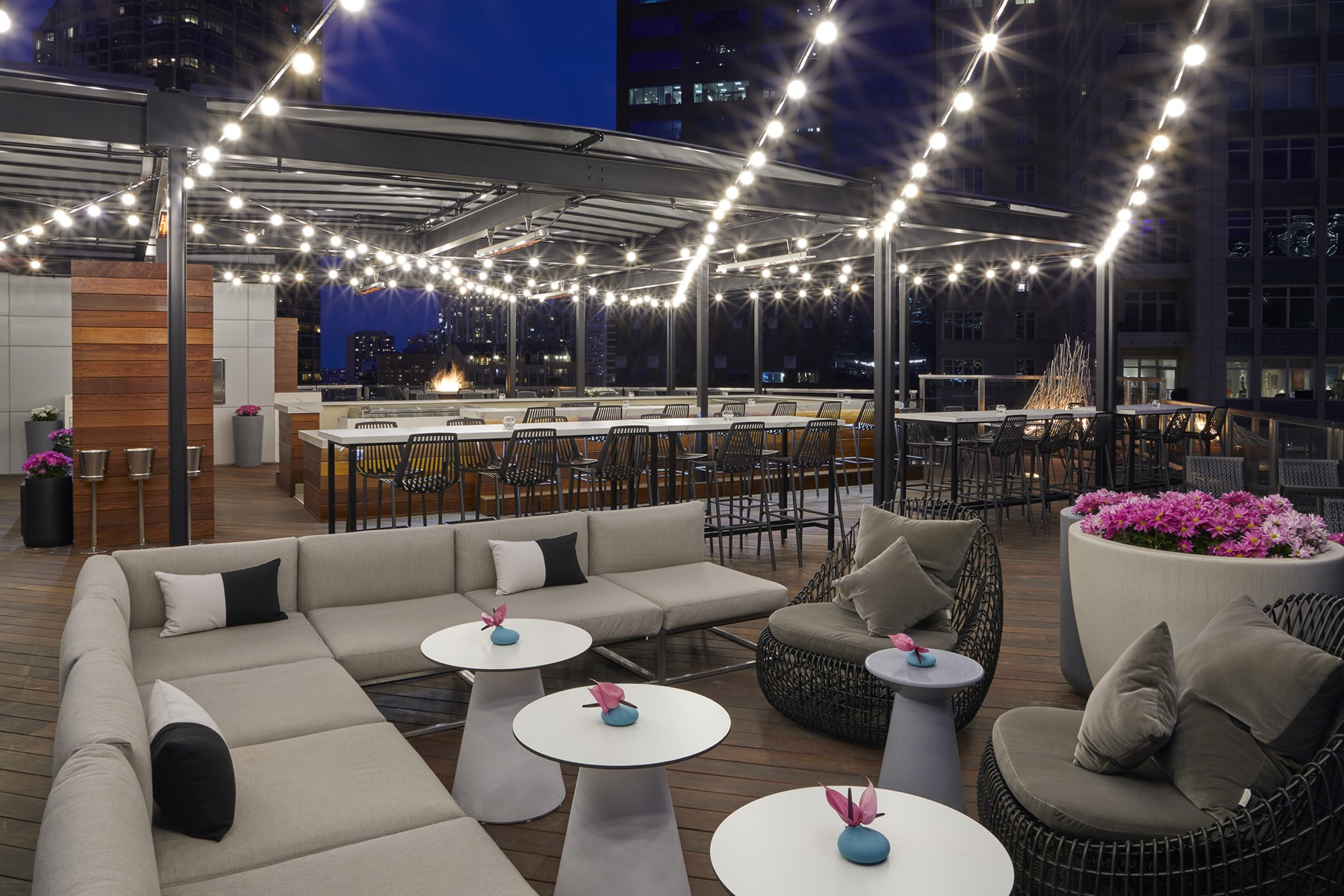 Noyane rooftop seating
