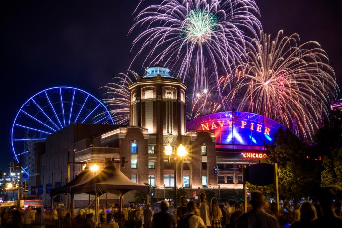 Fireworks at Navy Pier in Chicago