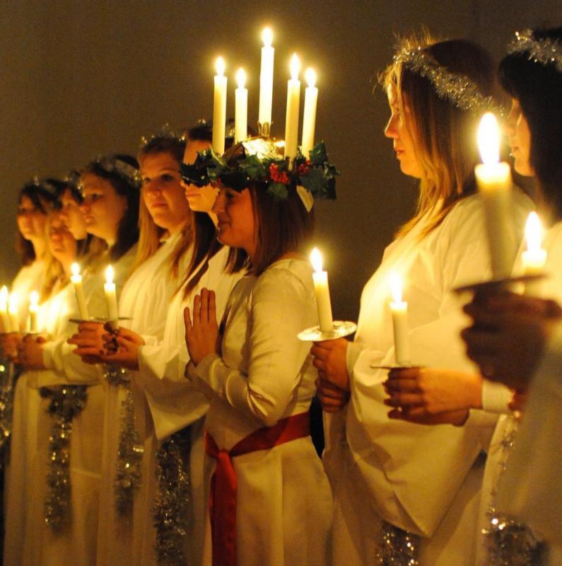 Swedish American Museum Lucia Procession