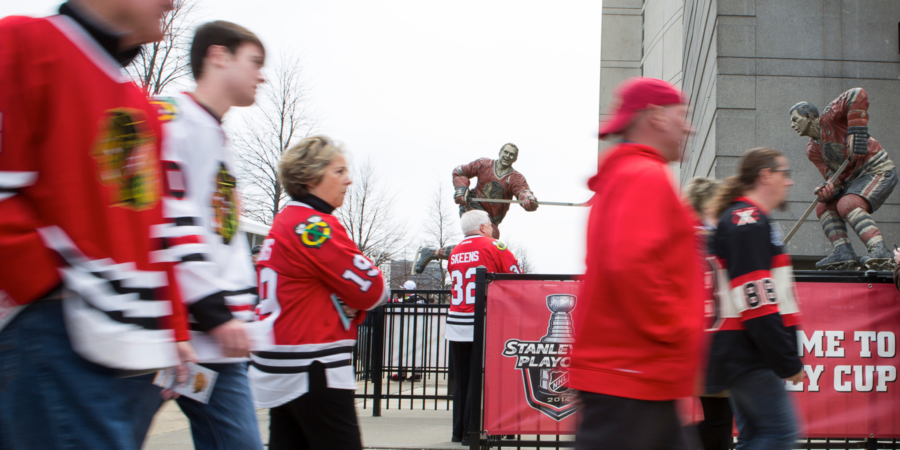 Chicago Blackhawks sports fans