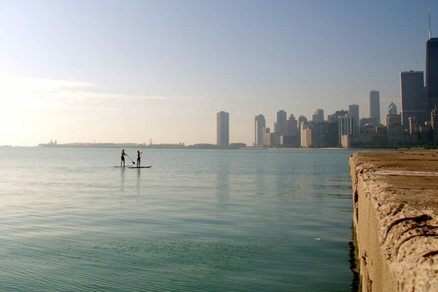 Lake Michigan paddleboard