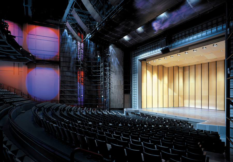 View of the stage of Harris Theater in Chicago