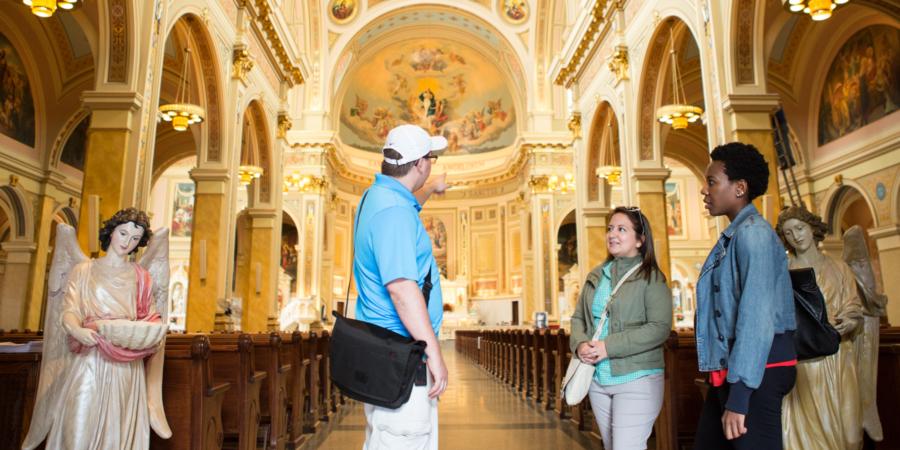 tour of a church