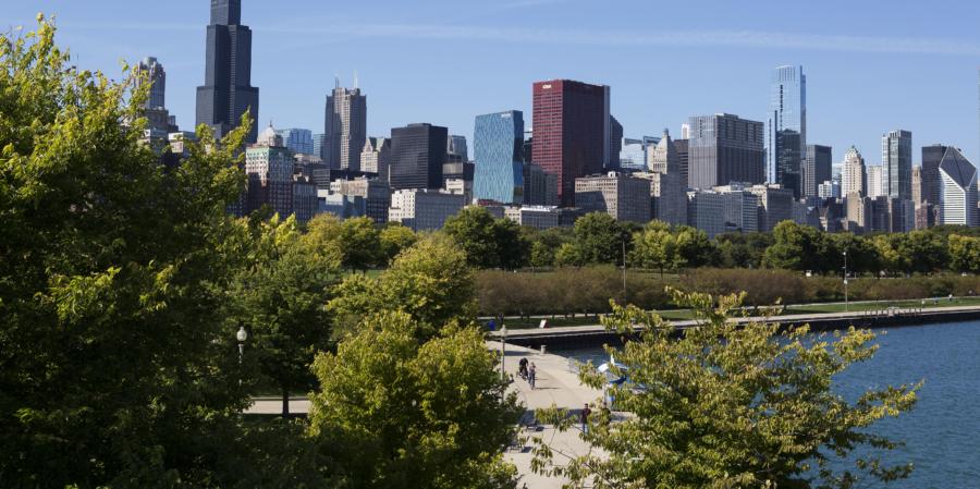 Chicago Skyline Museum Campus