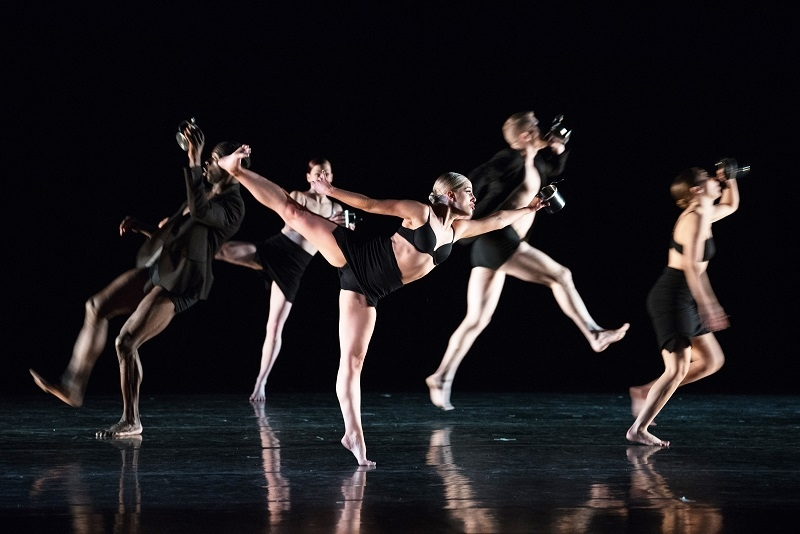 Giordano dancers on a stage from Dance Chicago