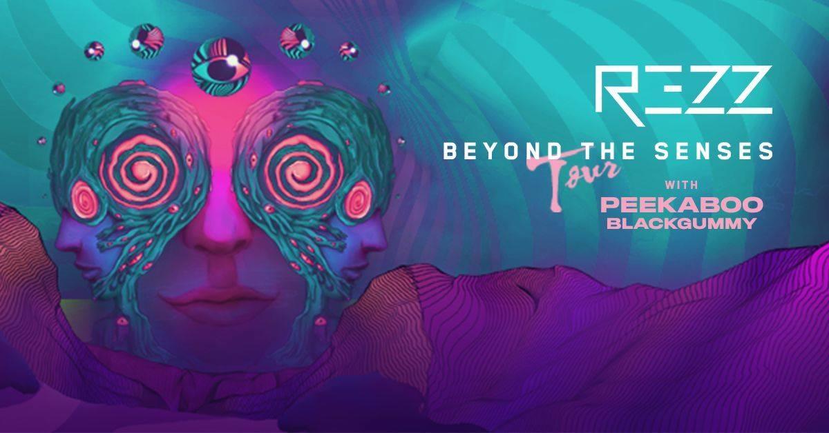 Rezz - Beyond The Senses Tour Chicago promo poster