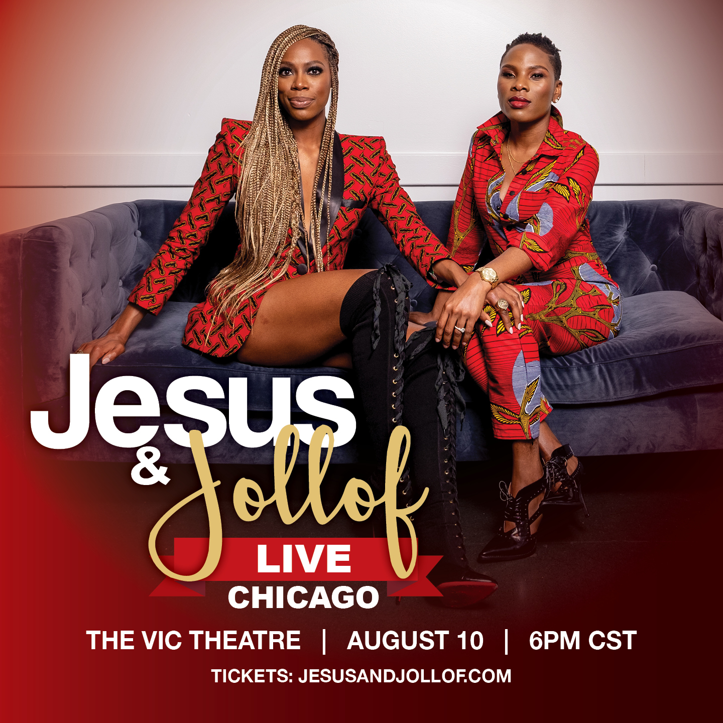 LUVVIE AJAYI AND YVONNE ORJI IN JESUS AND JOLLOF LIVE