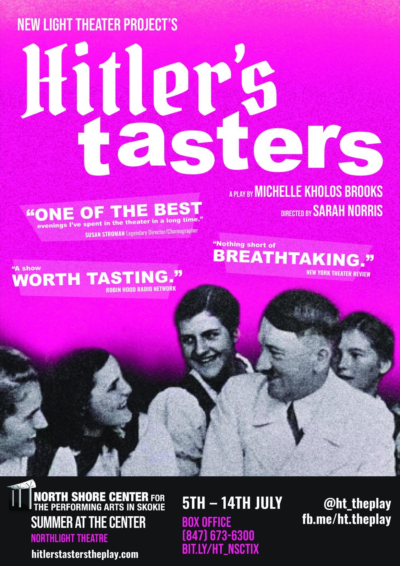 """Hitler's Tasters"" at the North Shore Center"
