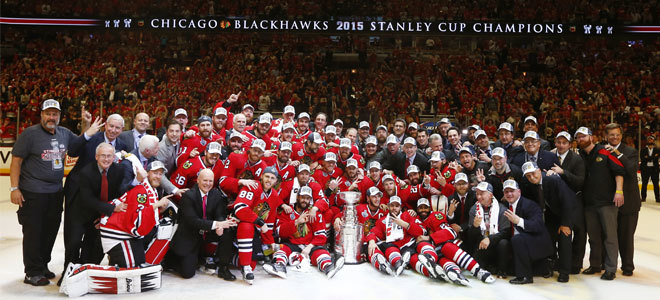 Chicago Blackhawks 2015 Stanley Cup Champions team photo