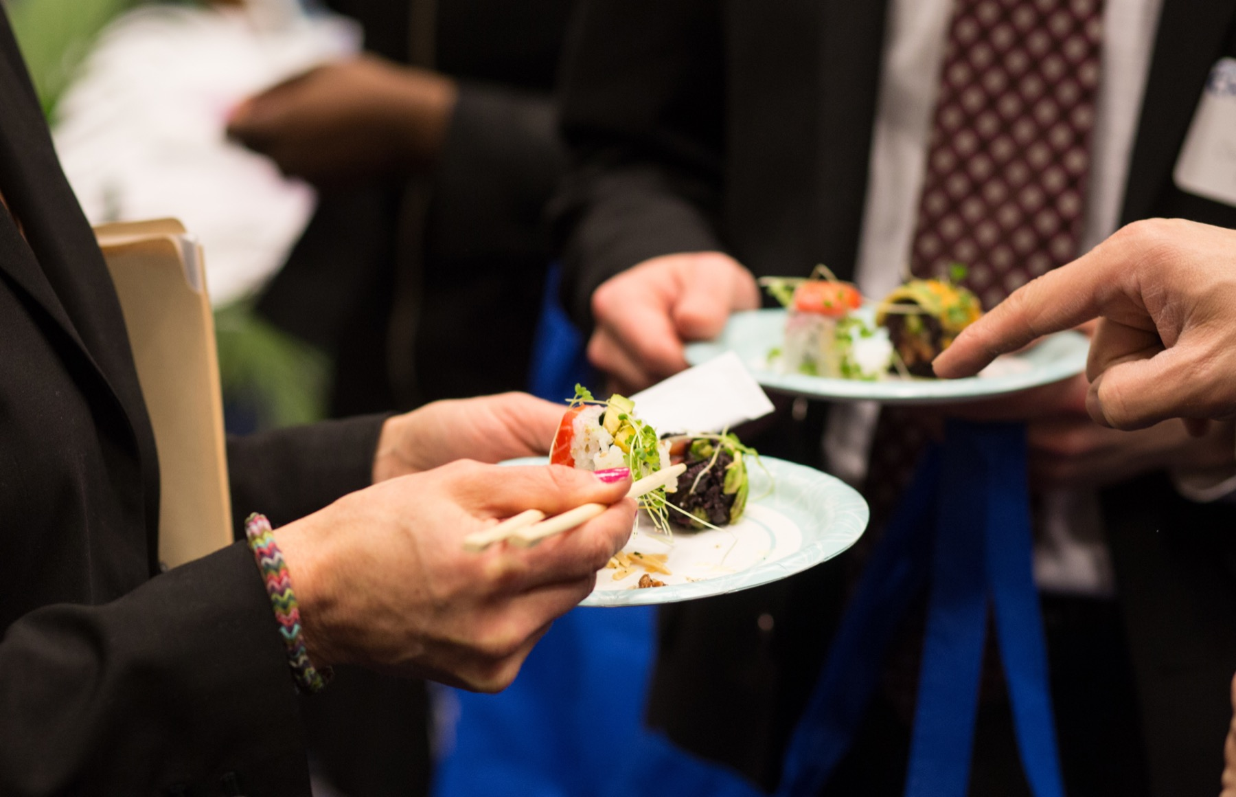 Hors d'oeuvres on a plate