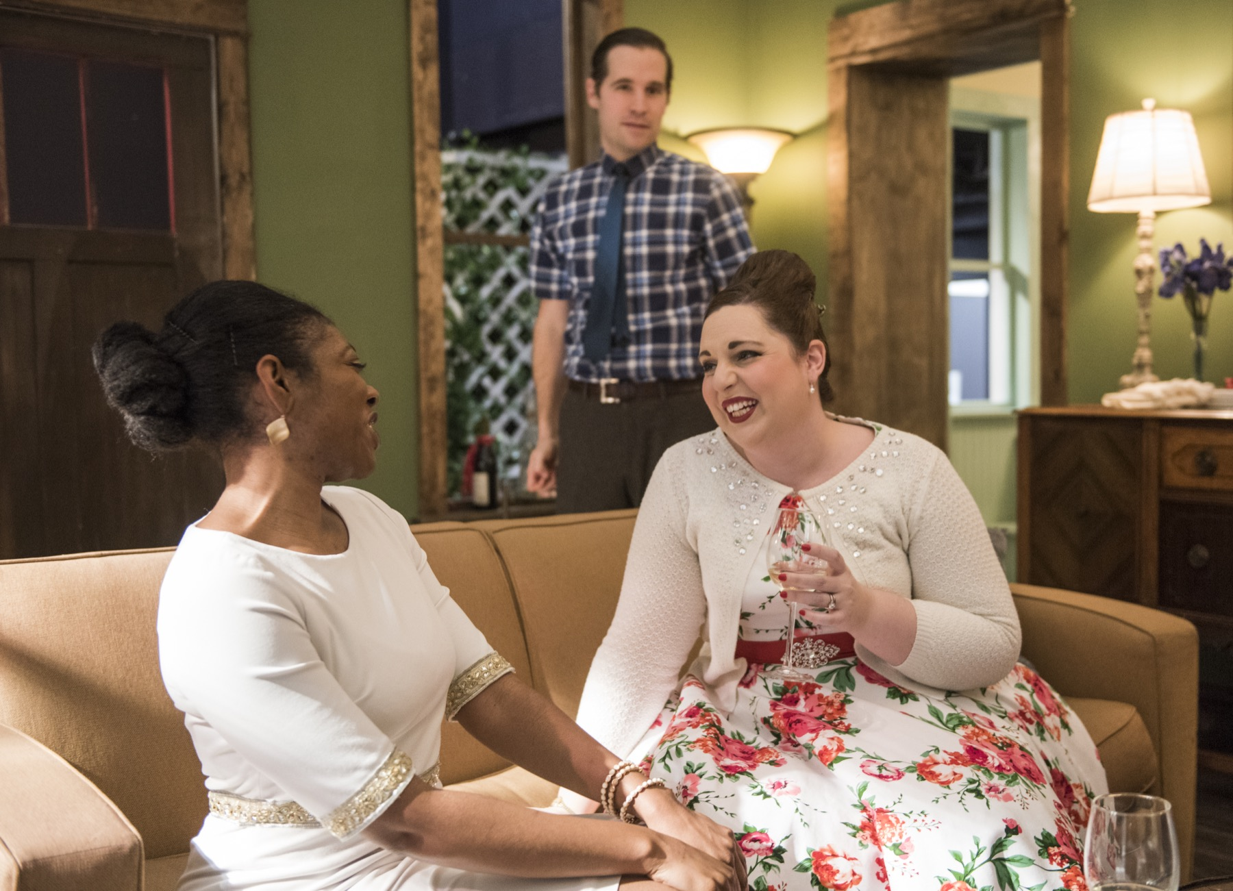 Arielle Leverett, Michael McKeough and Amy Malcom in Southern Gothic at Windy City Playhouse South