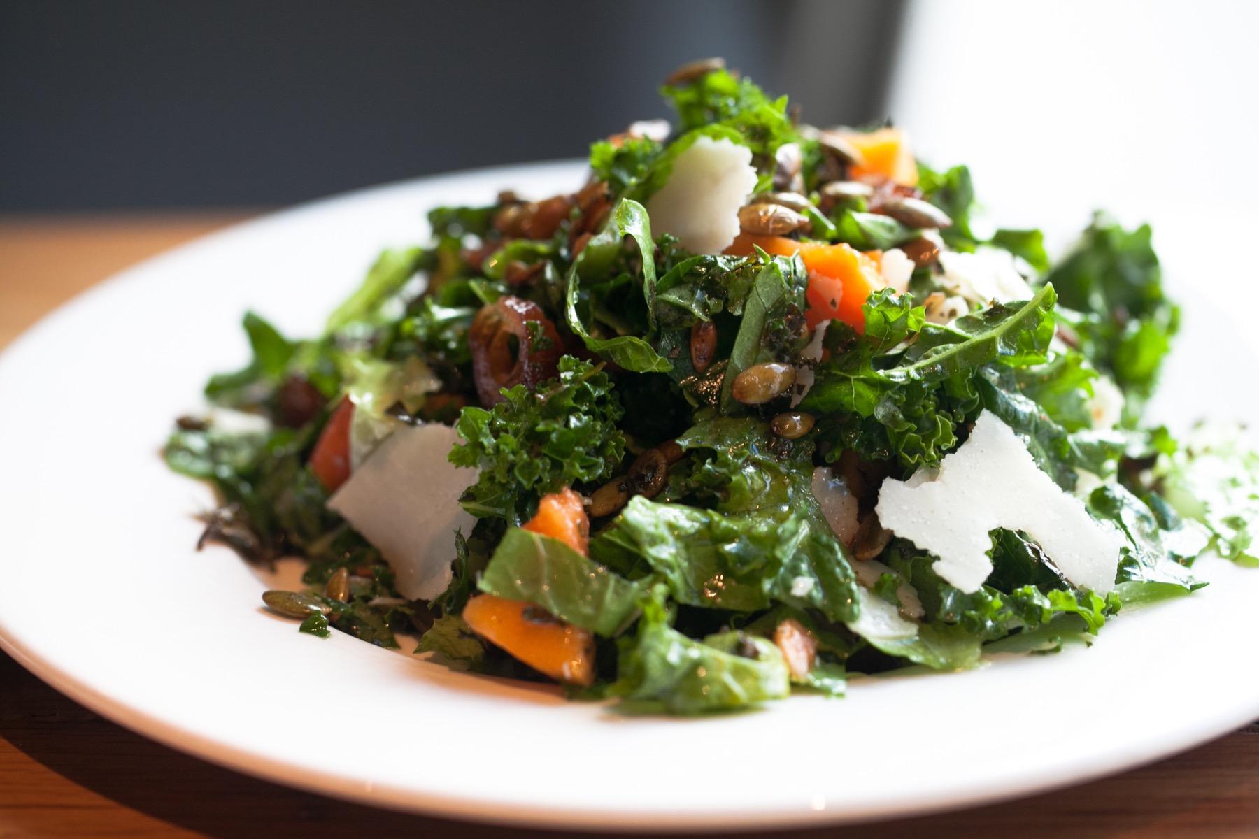 Krispy kale salad at Beatrix
