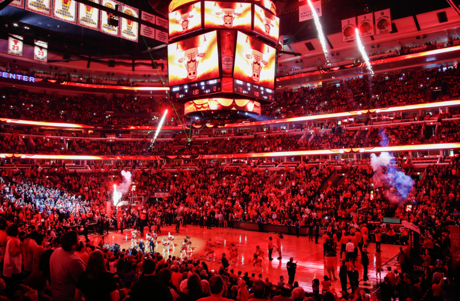 Chicago Bulls game intermission at the United Center