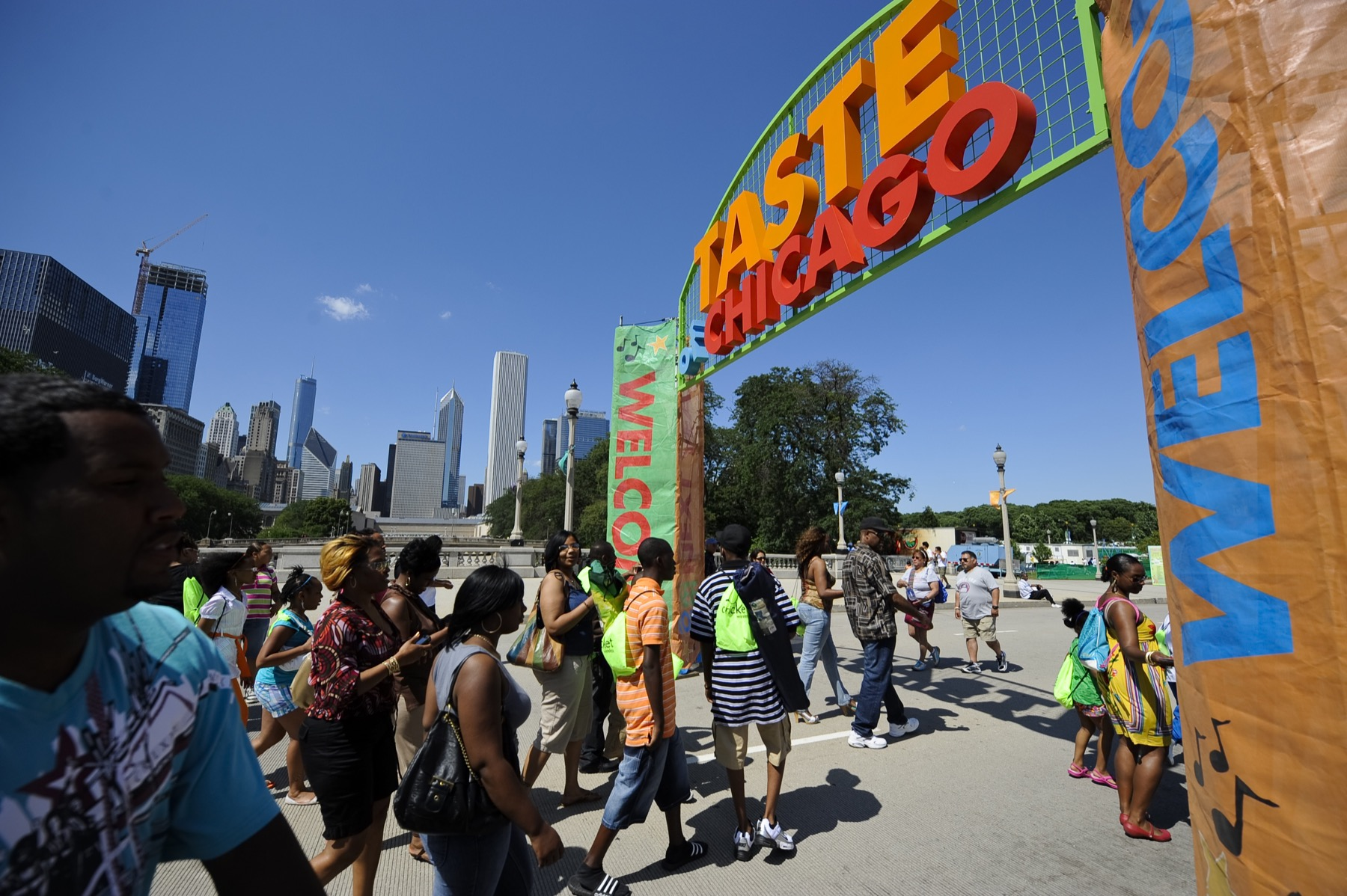 Taste of Chicago Entrance