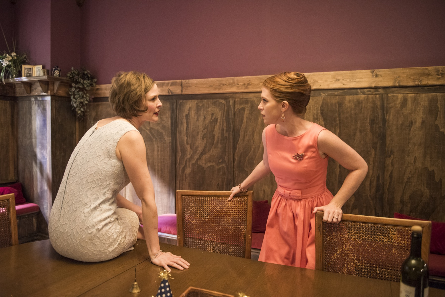 Erin Barlow and Sarah Grant in Southern Gothic at Windy City Playhouse South