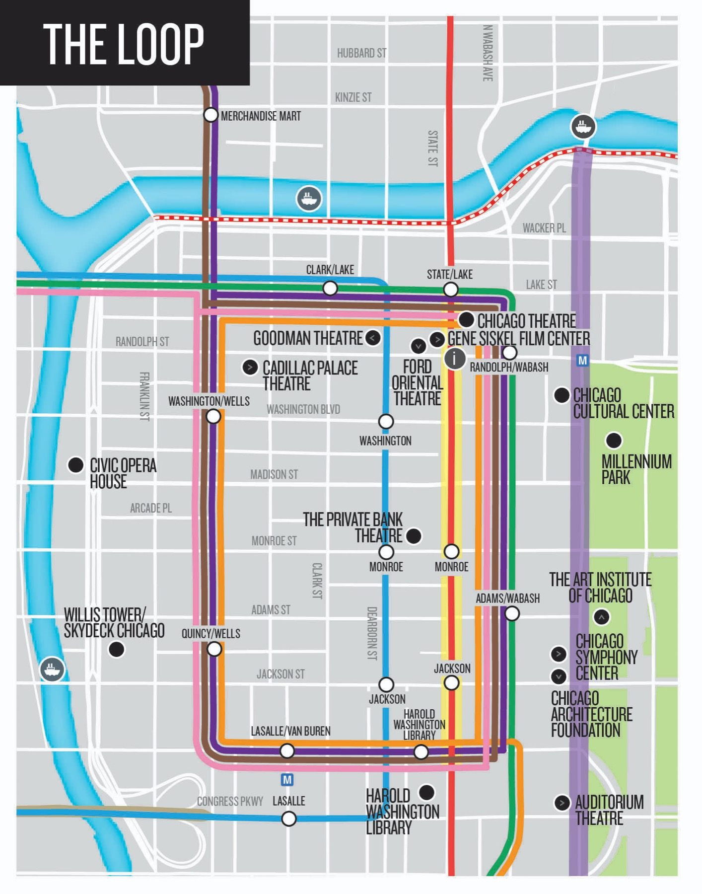 graphic about Chicago Tourist Map Printable named Chicago Push Marketing consultant: Maps Customer Centre Components