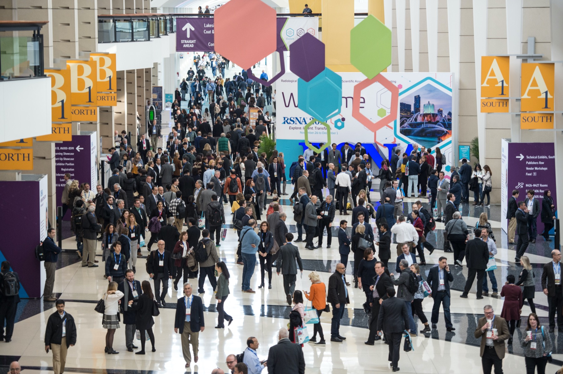 View of RSNA 2019 event at McCormick center in Chicago