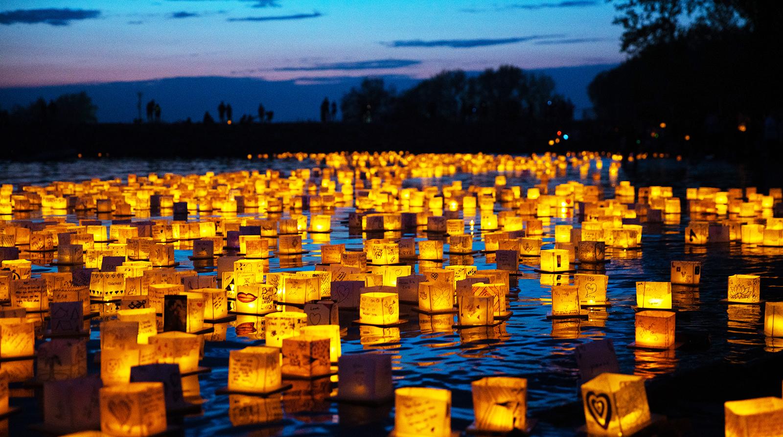 Water Lantern Festival at Humboldt Park