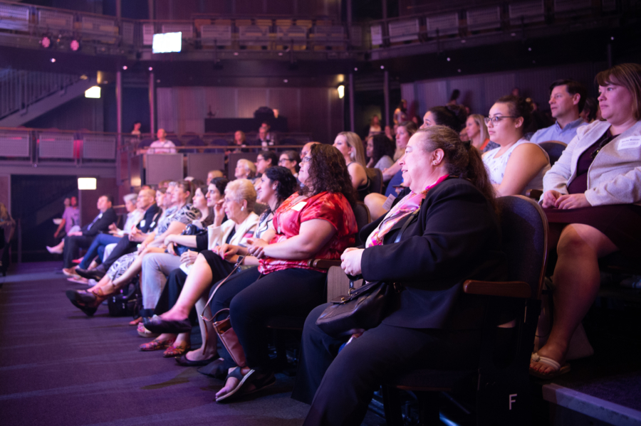 Audience enjoying a play in Chicago